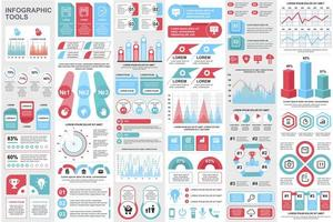paquete de elementos de infografía empresarial