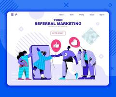 Referal marketing landing page template