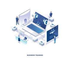 Corporate business training design vector