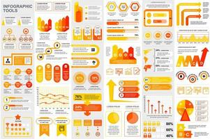 Bundle infographic elements template