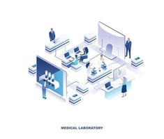 Medical laboratory isometric design vector