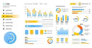 diseño del panel de administración de la interfaz de usuario del tablero