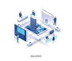 Real estate isometric design vector