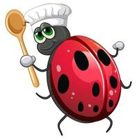 Ladybug chef cartoon character