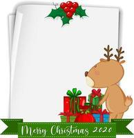 papel en blanco con texto feliz navidad 2020 y renos vector
