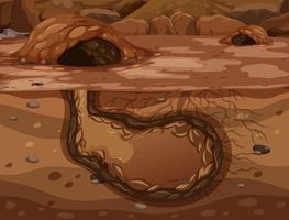 Empty underground animal hole