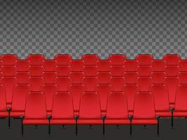 asientos de cine rojo