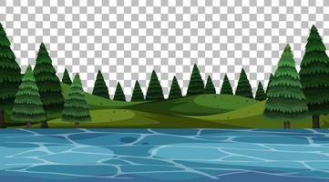 Nature park landscape scene