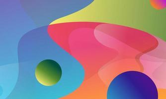 formas abstractas de flujo de colores vector