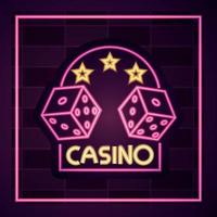 Casino neon light sign