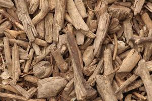 Close-up of wood chips