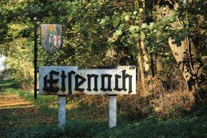Eisenach Ortseingangsschild