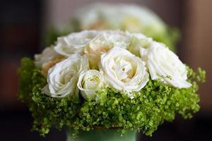 beautiful bridal bouquet of lilies and roses