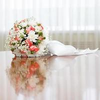 beautiful bridal bouquet at a wedding party