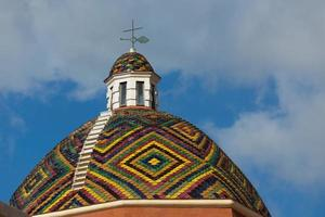 dome with colored tiles