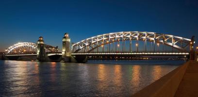 Old bridge over Neva river
