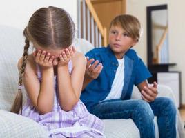 Children's quarrel indoor photo