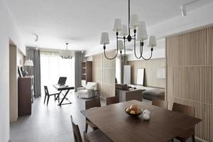 interior de casa elegante y confortable, comedor foto