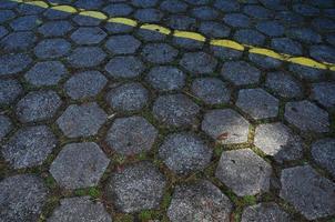 Floor hexagon block