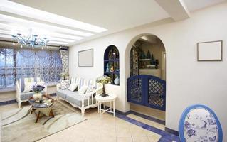 Home interiors,Mediterranean-style living room photo