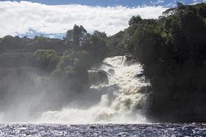 Waterfall in the Canaima Lagoon, Venezuela