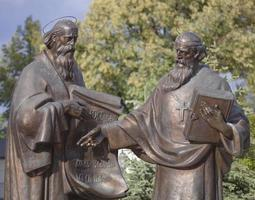 Monument to Cyril and Methodius. photo