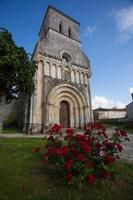 Rioux church with flowers photo