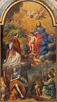 Bologna - Madonna in the glory with st. Ignace