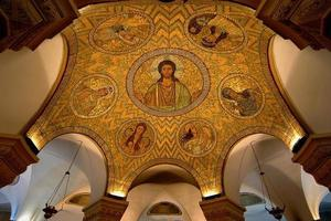 Mosaic ceiling in Jerusalem photo