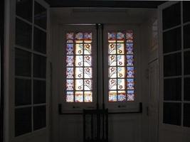 Gothic church decorated window photo