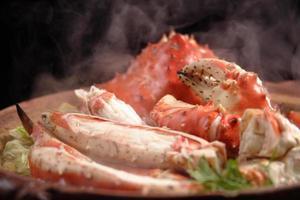 Pot dish of king crab