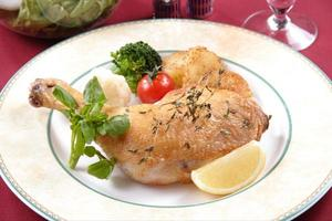 Baked chicken with herb