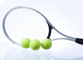 Squsha racket and ball photo