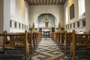 pews and inside church in holland