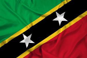 Waving Saint Kitts and Nevis Flag