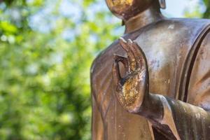 Hand of Buddha statue photo