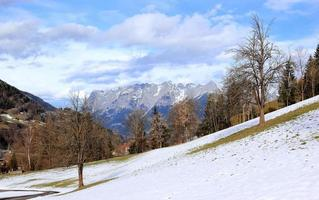 View of Alps from Sankt Johann. Austria.