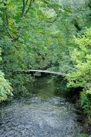 France, footbridge in Bray et Lu in Val d'Oise