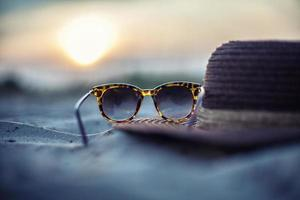 sombrero y gafas foto