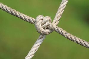nudo de cuerda foto