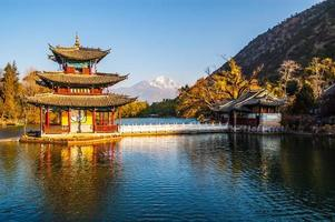 Black Dragon Pool Park-Lijiang old town scene photo