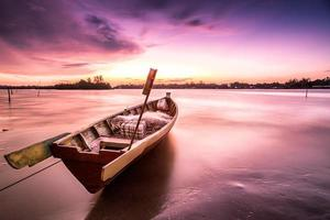 The Boat and magenta sunset photo