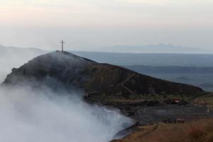 Volcan Masaya view at sunshine photo