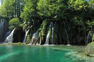 Wasserfälle im Nationalpark Plitvice in Kroatien