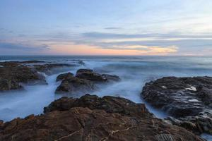 Sunset over the rocks in Laguna Beach