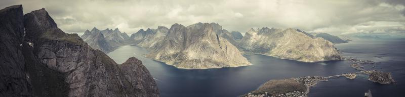 lofoten norway panorama seaview, mountains from above 5