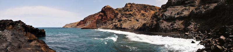 Waves under rugged coastline