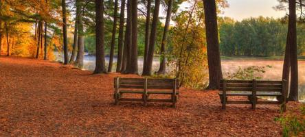 Colorful scenic Landscape in HDR soft focus photo