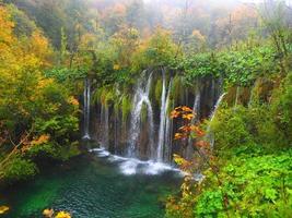 Plitvice waterfalls in autumn