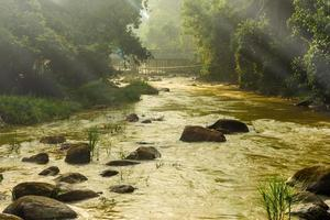ranong hot spring area and stream